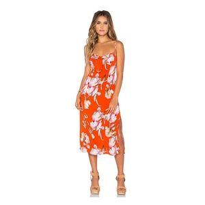 MINKPINK Tangerine Dream Midi Dress L